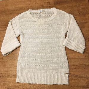 Calvin Klein White wide -sleeve Summer Sweater
